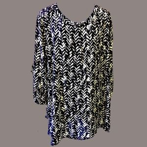 Geometric Blouse NYDJ
